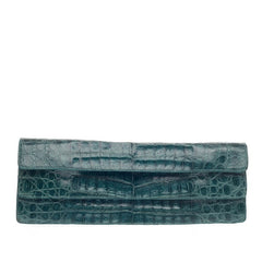 Nancy Gonzalez Convertible Double Flap Clutch Crocodile Long