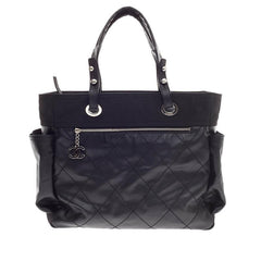 Chanel Biarritz Tote Coated Canvas Large