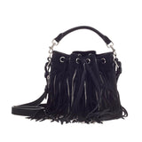 Saint Laurent Emmanuelle Bucket Bag Chain Fringe Suede Small