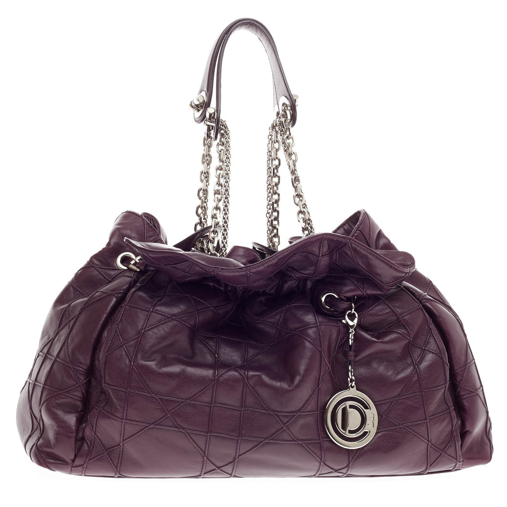 8300bf4e23 Buy Christian Dior Le Trente Bag Cannage Quilt Leather Purple 300402 – Rebag