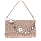 Miu Miu Crystal Clutch Matelasse Leather Large