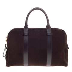 Tom Ford Buckley Trapeze Briefcase Suede Small
