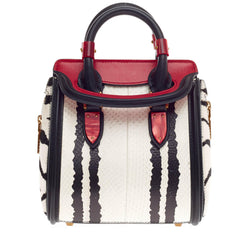 Alexander McQueen Heroine Tote Python and Pony Hair Mini