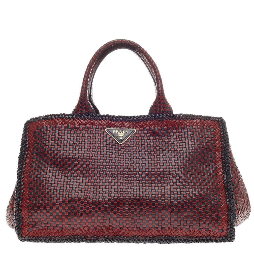 cheap pre owned at therealreal prada nappa leather tote bag 07f6a d310e   cheap buy prada madras tote woven leather small red 312303 rebag 9cbfa a93d7 b013c09750e41