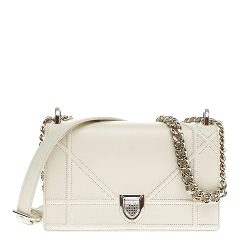 0a5a667e313f Buy Christian Dior Diorama Flap Bag Calfskin Small White 313102 – Rebag