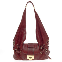 Jimmy Choo Ruse Messenger Leather and Snakeskin