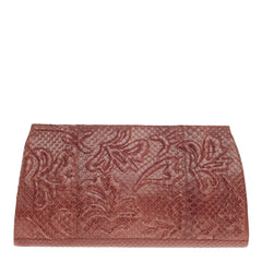 Nancy Gonzalez Clutch Floral Embossed Python