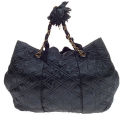Lanvin Pleated Tote Quilted Satin Large