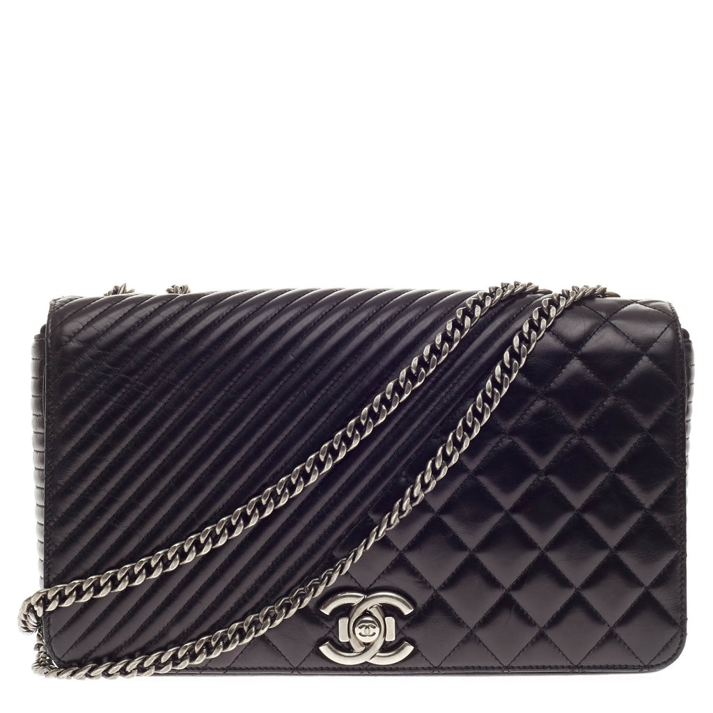 10f41308e1d061 Buy Chanel Coco Boy Flap Bag Quilted Lambskin Large Black 332701 – Rebag