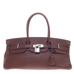 Hermes Birkin JPG Chocolate Clemence with Palladium Hardware 42