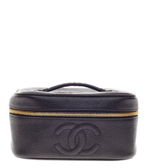 Chanel CC Cosmetic Case Caviar