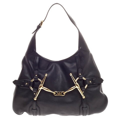 c8cce4918798 Buy Gucci Limited Edition 85th Anniversary Hobo Leather Black 342301 – Rebag