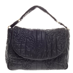 Versace Vanitas Messenger Bag Quilted Leather Large