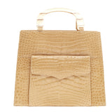 Lana Marks Convertible Pocket Front Open Tote Crocodile