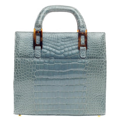 Lana Marks Convertible Zip Tote Crocodile Small