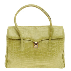 Lana Marks Convertible Flap Shoulder Bag Crocodile