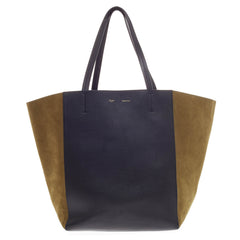 Celine Bicolor Phantom Cabas Tote Nubuck and Leather Medium