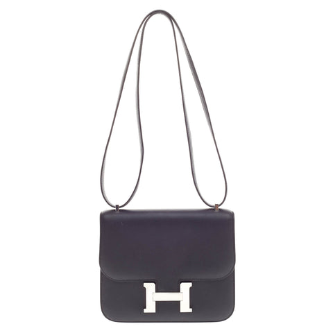 e088c7037a96 Buy Hermes Constance Handbag Swift 18 Black 371101 – Rebag