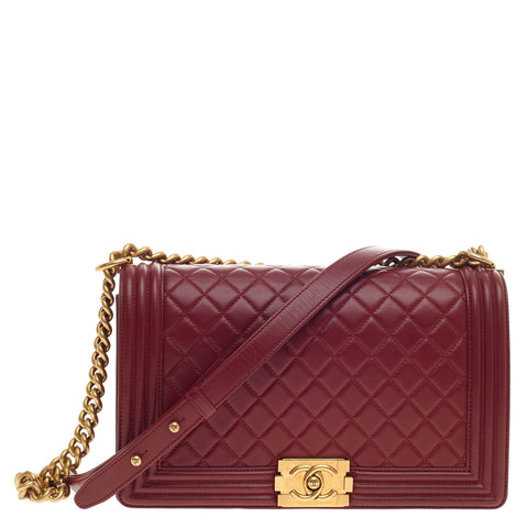 44f56c9d0706 Buy Chanel Boy Flap Bag Quilted Calfskin New Medium Red 372501 – Rebag