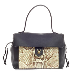 Louis Vuitton Lockme Leather and Python MM
