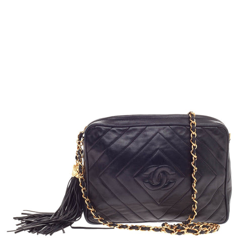 7f075cf85baf Buy Chanel Vintage Chevron Camera Bag Quilted Leather Small 384403 – Rebag