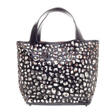 Alaia Bicolor Cut Out Tote Layered Leather Large