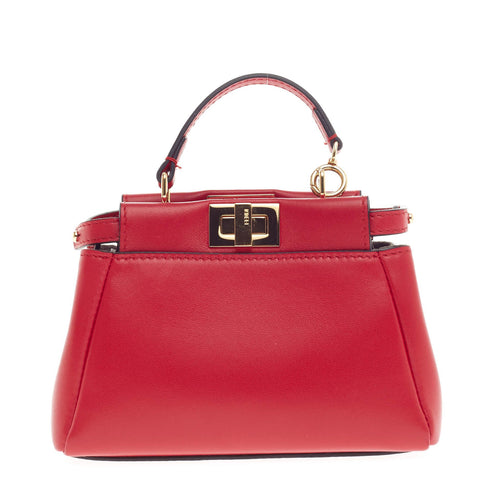 7679825b4de8 123456789101112 36934 e76fa  germany buy fendi peekaboo handbag leather  micro red 394102 rebag 29bf1 9613c
