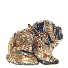 Judith Leiber Dog Minaudiere Crystal Small