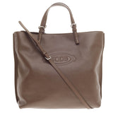 Tod's Logo Media Convertible Tote Leather -