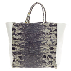 Lanvin Moon River Tote Embossed Lizard -