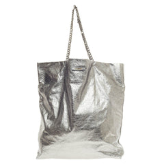 Lanvin Paper Bag Tote Metallic Lambskin Large
