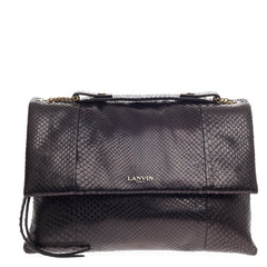 Lanvin Sugar Flap Shoulder Bag Python Medium