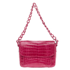 Nancy Gonzalez Chain Flap Shoulder Bag Crocodile Medium