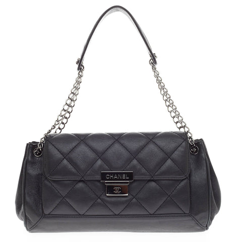 92353e4900db4e Buy Chanel Accordion Push Lock Flap Bag Quilted Leather 419302 – Rebag