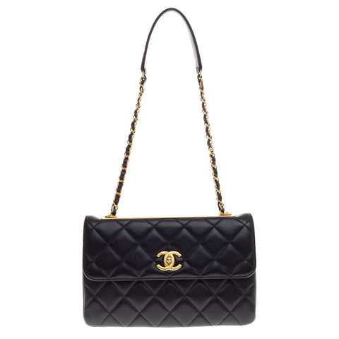 a0f8694b9c78 Buy Chanel Trendy CC Flap Bag Quilted Lambskin Medium Black 427301 – Rebag