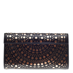 Alaia Flap Clutch Laser Cut Leather Small