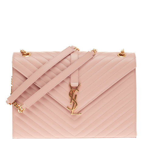 6a9516562eda86 Buy Saint Laurent Classic Monogram Satchel Matelasse Chevron 432802 – Rebag