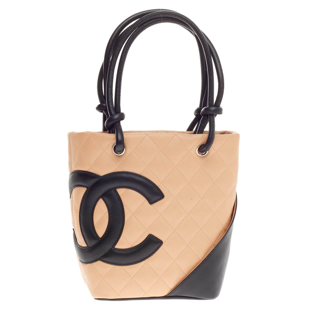 27fc8751fcc7af Buy Chanel Cambon Tote Quilted Leather Petite Brown 433601 – Rebag