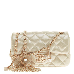 Chanel Crystal Dice Flap Quilted Iridescent Calfskin Extra Mini
