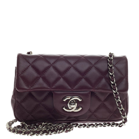 9dbf87982e8b Buy Chanel Classic Flap Bag Lambskin Extra Mini Purple 440506 – Rebag