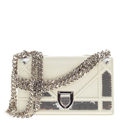 Christian Dior Diorama Flap Bag Sequin Embellished Lambskin Mini