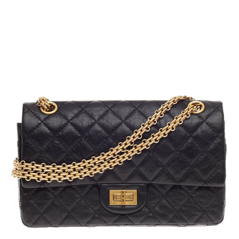 Buy Chanel Reissue 2.55 Handbag Aged Calfskin 225 Black 445801 – Rebag a52fb7ac5348c
