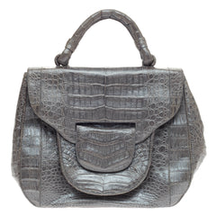 Nancy Gonzalez Flap Pocket Bag Crocodile Large