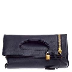 Tom Ford Alix Fold Over Crossbody Leather