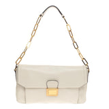 Miu Miu Chain Pushlock Shoulder Bag Vitello Soft