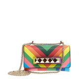 Valentino 1973 Va Va Voom Clutch Striped Leather Mini