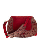 Ralph Lauren Tooled Saddle Suede