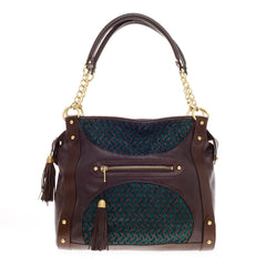 Zac Posen Lauren Tote Woven Leather