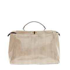 Fendi Peekaboo Watersnake with Python Interior Extra Large