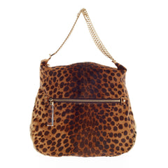 Christian Louboutin Marianna Hobo Pony Hair Leopard Print Medium